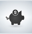 piggy bank icon investment concept vector image vector image