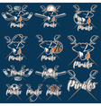 pirates sport teams labels set vector image
