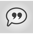 Quotation Mark Speech Bubble symbol vector image