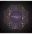 Ramadan Kareem greeting template vector image vector image