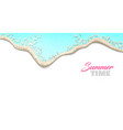 realistic wave on shore isolated vector image