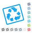 recycle icon rubber watermark vector image vector image