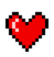 red heart pixel love romatic passion icon vector image vector image