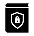 secured book icon simple style vector image