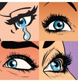 Set of beautiful woman eye makeup and beauty vector image vector image