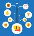 set of economy icons flat style symbols with money vector image vector image