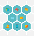 Set of task manager icons flat style symbols with
