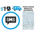 SMS Message Icon with 1000 Medical Business vector image vector image