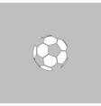Soccer ball computer symbol vector image vector image