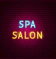 spa salon neon text vector image vector image