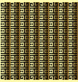 striped gold 3d greek seamless border pattern vector image vector image