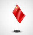 Table flag of China vector image vector image