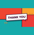thank you retro banner simple minimal typography vector image