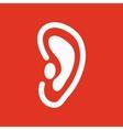 The ear icon Listen symbol Flat vector image