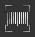 traditional barcode chalk icon vector image vector image