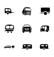 trailer icon set vector image vector image