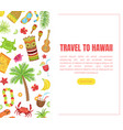 travel to hawaii landing page template vector image vector image