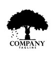 tree with face silhouette creative logo concept vector image vector image