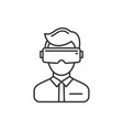 virtual reality headset icon on white background vector image vector image