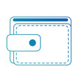 wallet money isolated icon vector image vector image