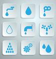 Water Symbols - Icons Set vector image vector image