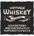 whiskey vintage typeface vector image vector image
