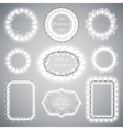 White Christmas Illumination Frames vector image vector image