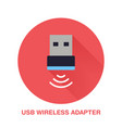 wireless usb adapter flat style icon wifi vector image