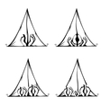 Funny Camping vector image