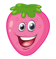 a strawberry with a face vector image