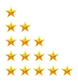 Rating stars set Web or mobile User feedback vector image