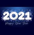 2021 snowflakes dark bg vector image vector image