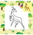 antilopa coloring page vector image