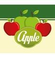 Apple design vector image vector image