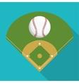 Ball and league of baseball sport design vector image vector image