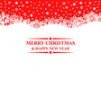 banner snows red vector image vector image
