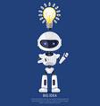 big idea robot and bulb poster vector image