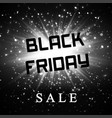 black friday sale background dark explosion vector image vector image