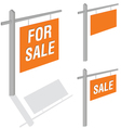 board with the inscription sale art vector image