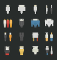 Cable wire computer icons with black background vector image