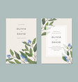 card template with blue berries vector image