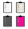 check list set color vector image vector image
