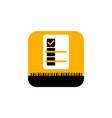 checklist mobile app icon vector image