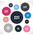 collection premium quality badges vector image