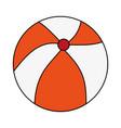 color image cartoon beach ball toy fun vector image vector image