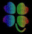 colored dot four-leafed clover icon vector image vector image