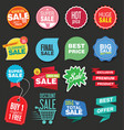 colorful sale stickers collection 2 vector image vector image