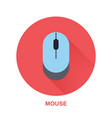 computer mouse flat style icon wireless vector image