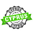 cyprus round ribbon seal vector image vector image