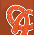 delicious pretzel bakery icon vector image vector image